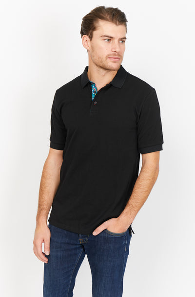 Elia Navy Organic Polo Shirt