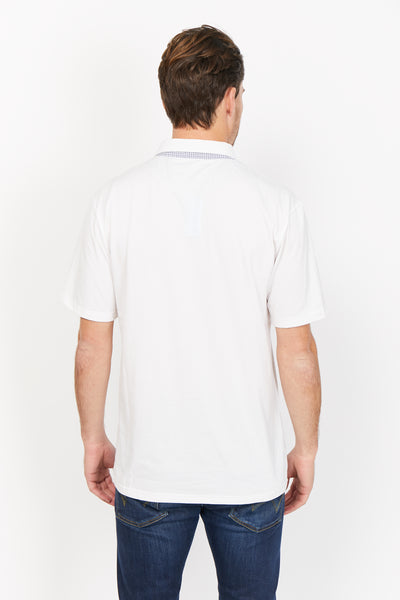 Leon White Organic Polo Shirt