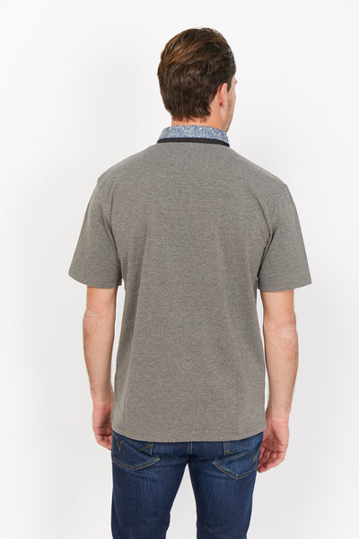 Salvatore Light Gray Organic Polo Shirt