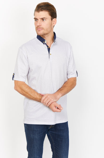 Vincent White Organic Polo Shirt