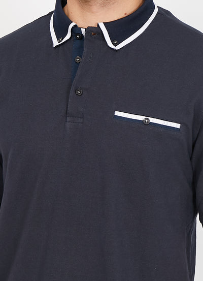 Lucas Black Organic Polo Shirt