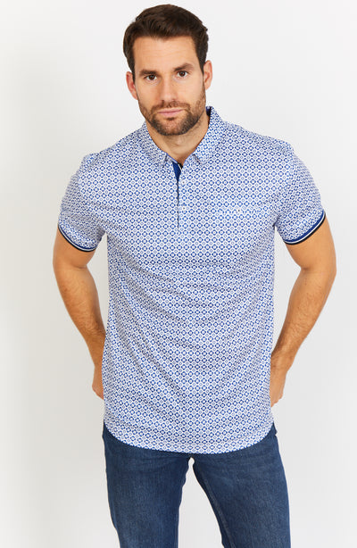 Blue Short Sleeve Polo Shirt