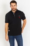 Black Short Sleeve Polo Shirt