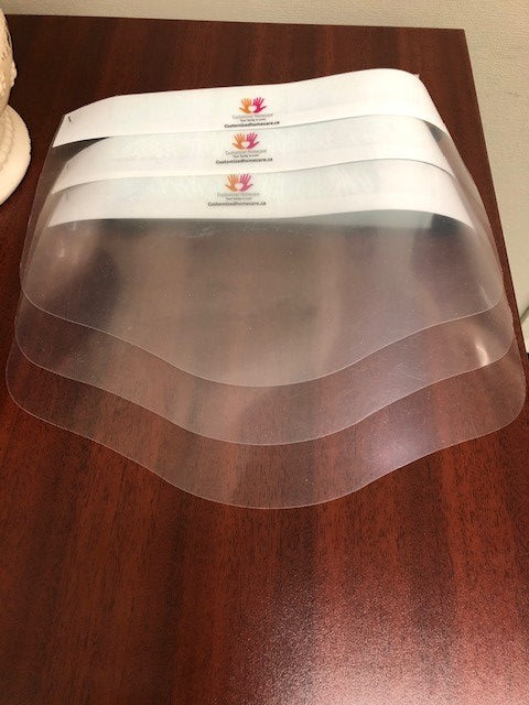 All Canadian Reusable Transparent Face Shield (3 PCS) - Family Pack