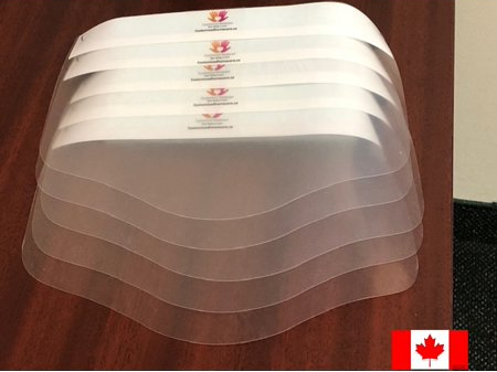 All Canadian Reusable Transparent Face Shield (5 PCS) - Family Pack