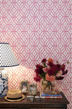 Anna Spiro for Porters Paints Rosey Posey Trellis Wallpaper (Colour options) - CURRENTLY UNAVAILABLE
