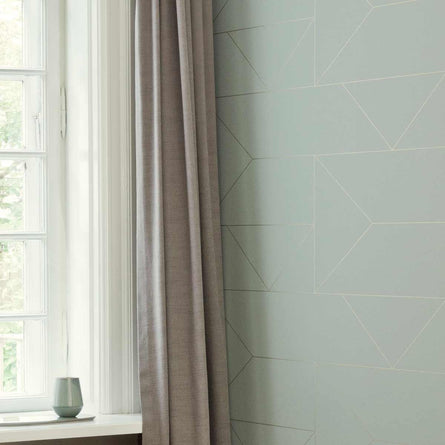 Ferm Living Lines Wallpaper, Mint