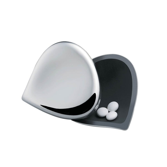 Alessi Chestnut Pill Box, Stainless Steel