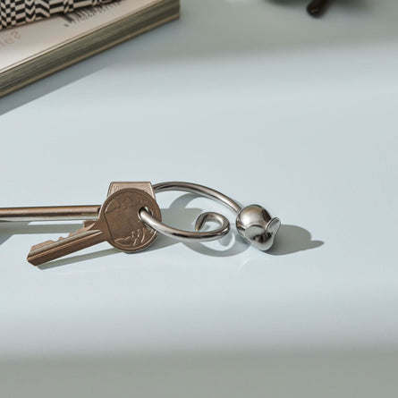 Alessi Pip Keyring, Stainless Steel