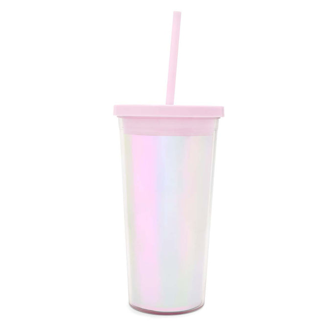 Ban.do Sip Sip Tumbler With Straw, Pearlescent