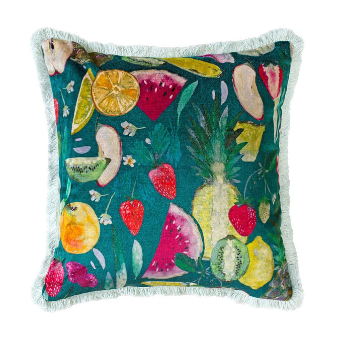 Bluebellgray Tutti Frutti Forest Cushion, 45x45cm