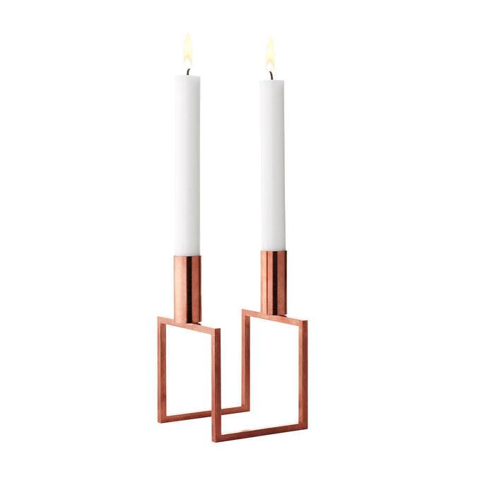 by Lassen Line Candle Holder, Metallics