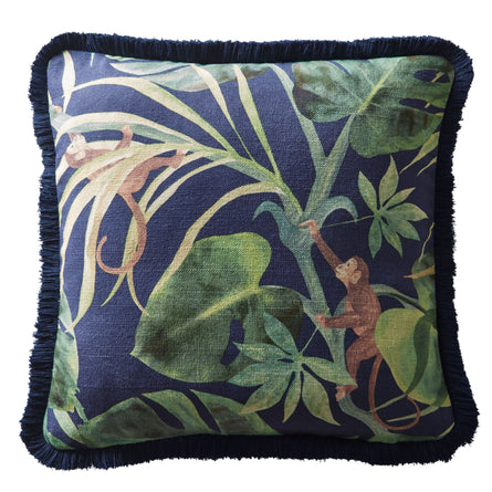 Clarke & Clarke Monkey Business Cushion, 43x43cm