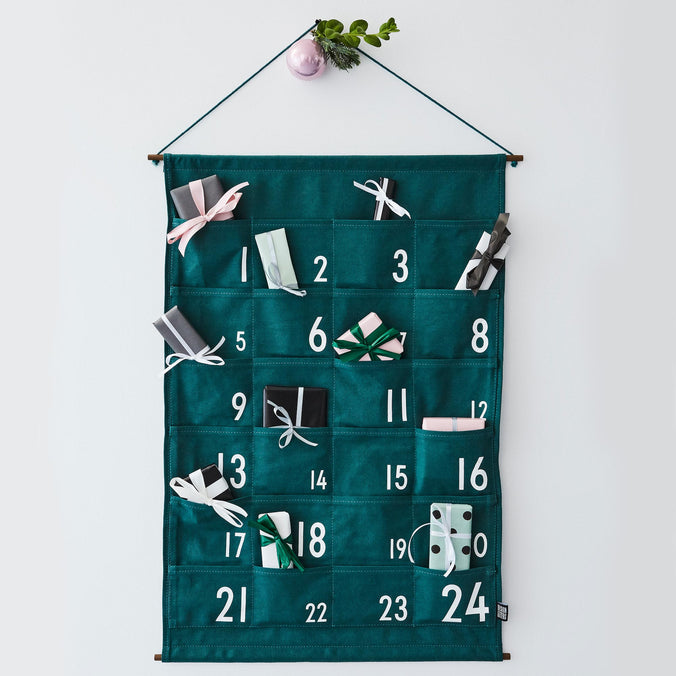 Design Letters Christmas Advent Calendar, Green