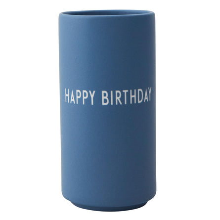 Design Letters Favourite Vase Blue, Happy Birthday