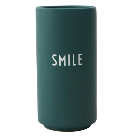 Design Letters Favourite Vase Dark Green, Smile