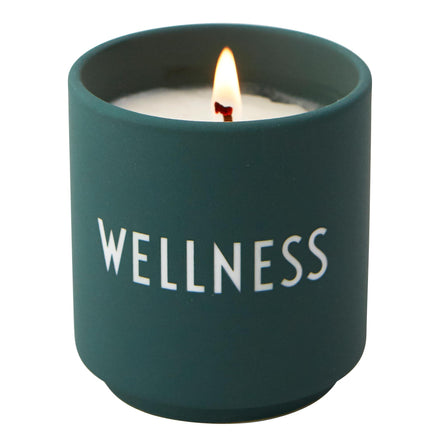 Design Letters Scented Candle Dark Green, Wellness