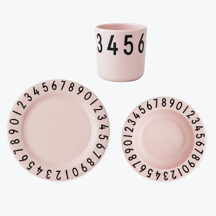 Design Letters The Numbers Childrens Plate & Cup Set