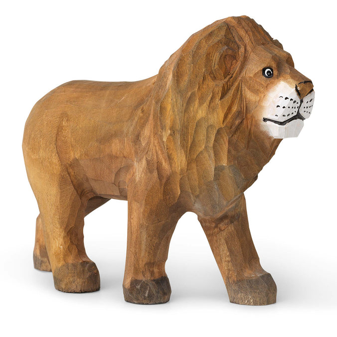 Ferm Living Hand-Carved Wooden Animal Toy, Lion