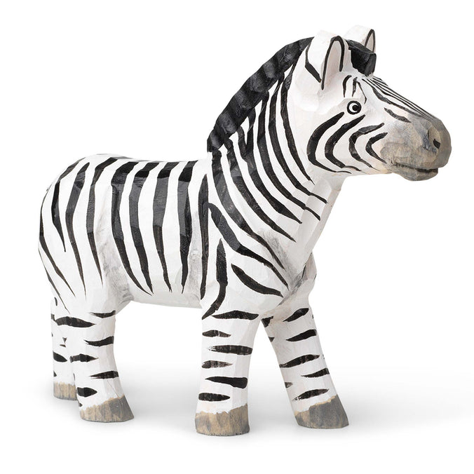 Ferm Living Hand-Carved Wooden Animal Toy, Zebra