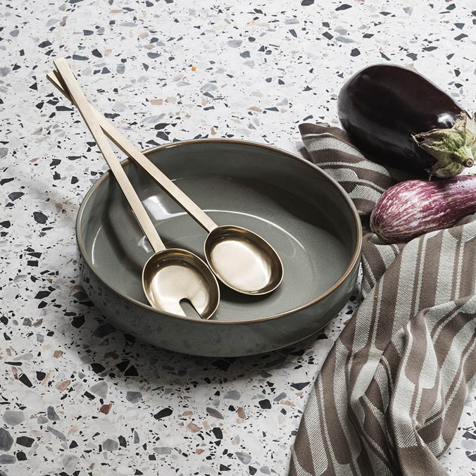 Ferm Living Brass Fein Salad Servers