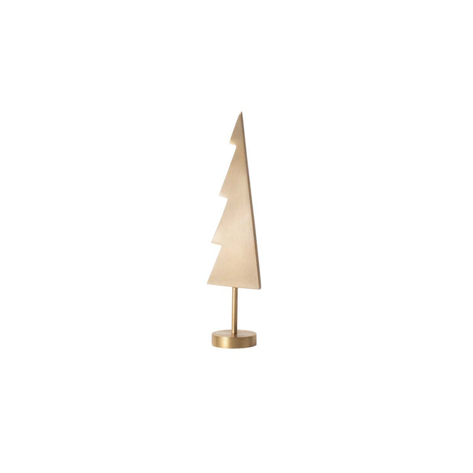 Ferm Living Christmas Winterland Brass Tree, Solid H:15.5 x W:4.6cm