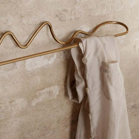 Ferm Living Curvature Towel Hanger, Brass