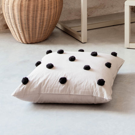 Ferm Living Dot Tufted Cushion, Sand Black