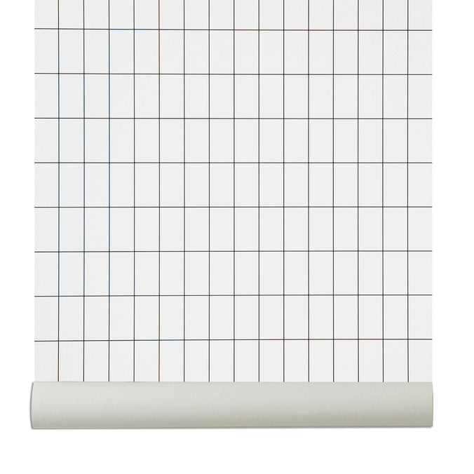 Ferm Living Grid Wallpaper, Black/White