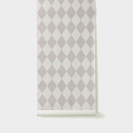 Ferm Living Harlequin Wallpaper, Grey