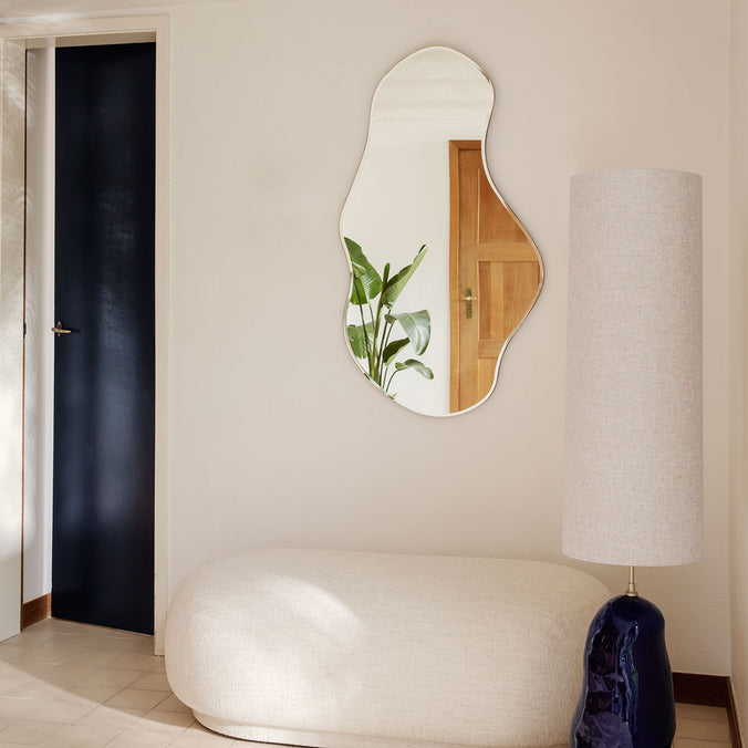Ferm Living Large Pond Wall Mirror, Brass