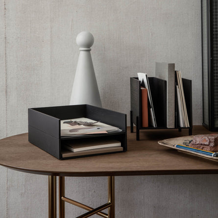 Ferm Living Letter Tray, Black Stained Ash