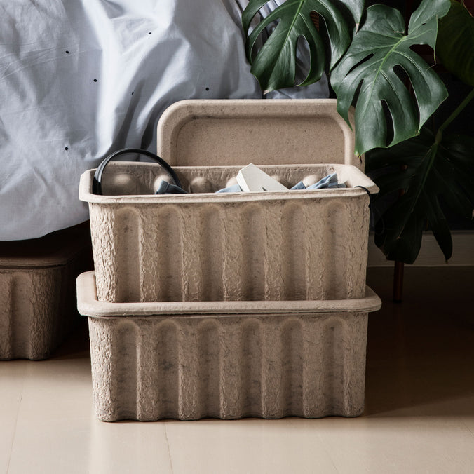 Ferm Living Paper Pulp Storage Box, Set of 2