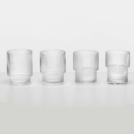Ferm Living Ripple Glass, Set of 4