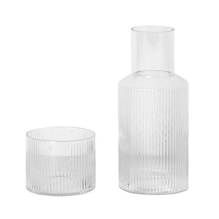 Ferm Living Ripple Carafe Set, Small