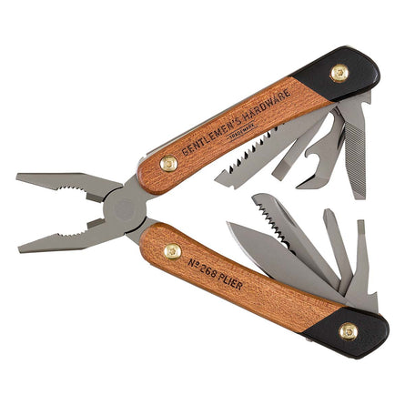 Gentlemens Hardware Plier Multi-Tool, Titanium Finish