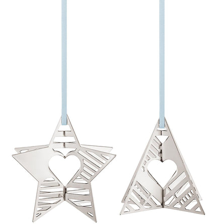 Georg Jensen 2019 Holiday Christmas Tree Ornaments, Star & Tree