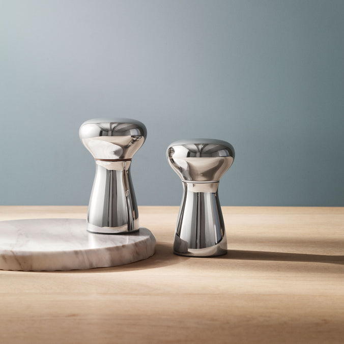 Georg Jensen Alfredo Salt & Pepper Bistro Set Stainless Steel, Mirror