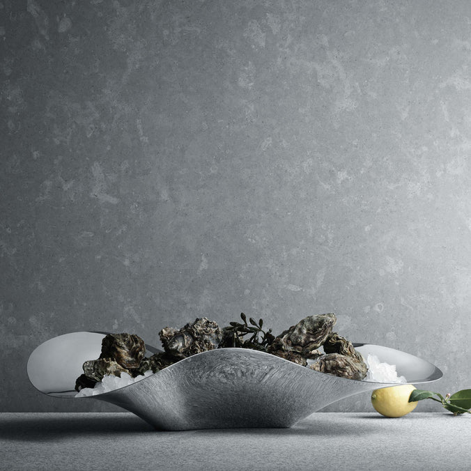 Georg Jensen Indulgence Oyster Tray, Stainless Steel Mirror