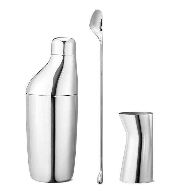 Georg Jensen Sky Gift Set 3 Pcs, Shaker, Stirring Spoon & Jigger