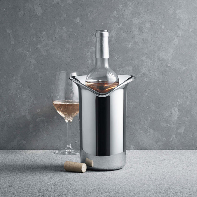 Georg Jensen Wine & Bar Cooler Stainless Steel, Mirror