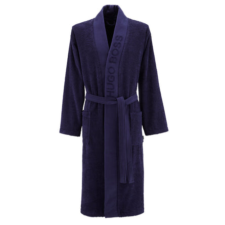 Hugo Boss Luxury Egyptian Cotton Kimono Bath Robes, Navy