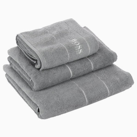 Hugo Boss Luxury Egyptian Cotton Plain Towels, Concrete
