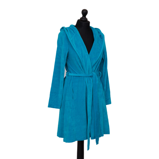 Farbenfreunde Bath Robe Short, Summer Petrol