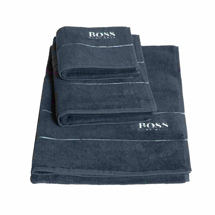 Hugo Boss Luxury Egyptian Cotton Plain Towels, Graphite