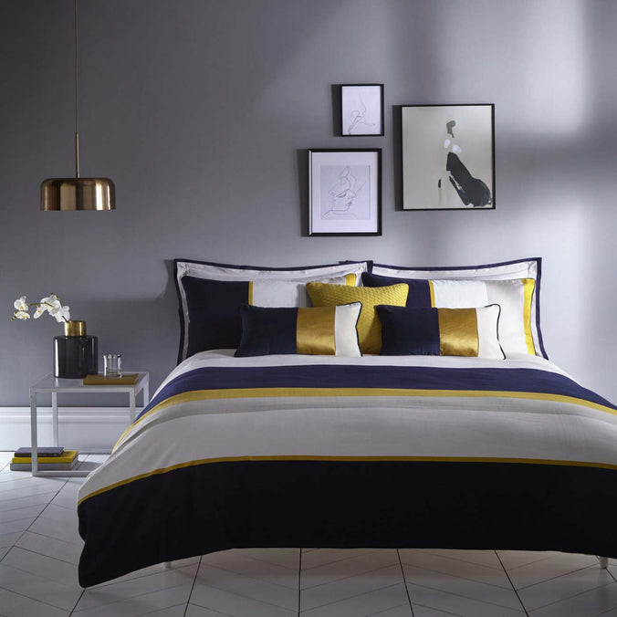 Karen Millen Colour Block Midnight Blue Bedding
