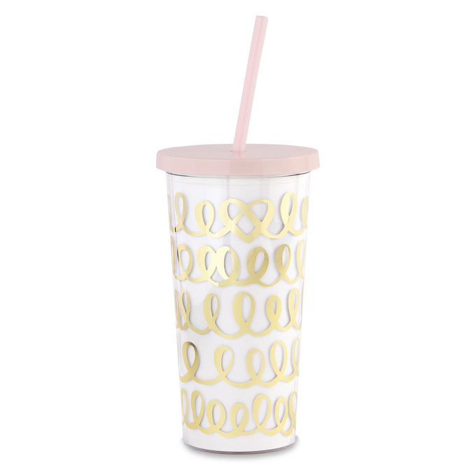 kate spade new york Bridal Tumbler with Straw, Heart Knot