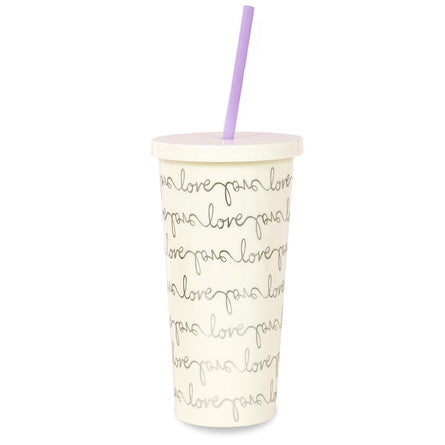 kate spade new york Tumbler with Straw, Love Script