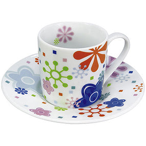 Konitz Flower Twist Espresso Cup and Saucer