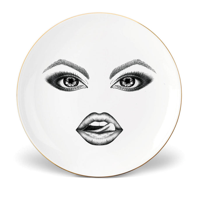 Lauren Dickinson Clarke Moody Muse Small Coupe Plate, The Provocateur